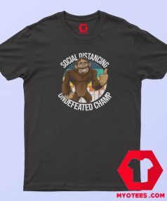 Smiling Thumbs Up Bigfoot Social Distancing T Shirt