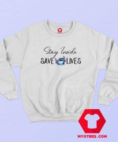 Stitch Stay Inside Save Lives Sweatshirt
