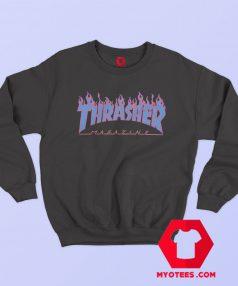 Thrasher Magazine Fire Blue Sweatshirt