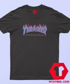 Thrasher Magazine Fire Blue T Shirt