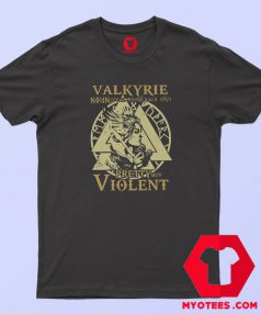 Valkyrie Pretty But Violent Graphic T Shirt