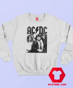 ACDC Rock Group Vintage Photo Sweatshirt