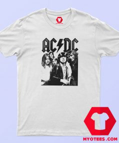 ACDC Rock Group Vintage Photo T Shirt