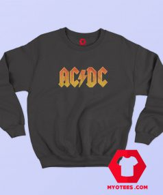 ACDC Vintage Orange Logo Metal Rock Sweatshirt
