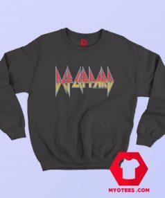 Def Leppard Rock Band Vintage Logo Sweatshirt