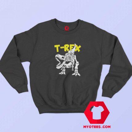 Funny Skeleton T Rex Dinosaur Unisex Sweatshirt