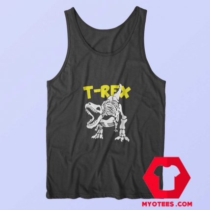 Funny Skeleton T Rex Dinosaur Unisex Tank Top