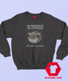 Star Wars The Mandalorian Attack And Nap Sweatshirt