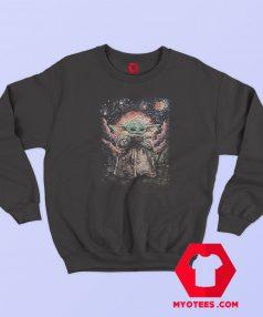 Star Wars The Mandalorian The Child Starry Night Sweatshirt