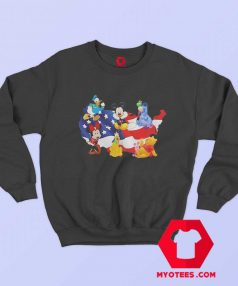 American Flag Independence Day Disney Sweatshirt