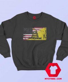 American Gadsden Flag Worn Classic Sweatshirt