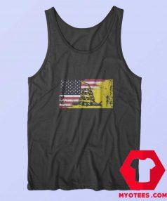 American Gadsden Flag Worn Classic Tank Top