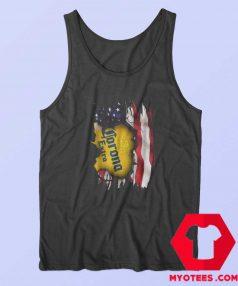 Corona Extra Beer American Flag Day Tank Top