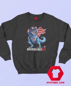 Dinosaur T Rex American Flag Unisex Sweatshirt