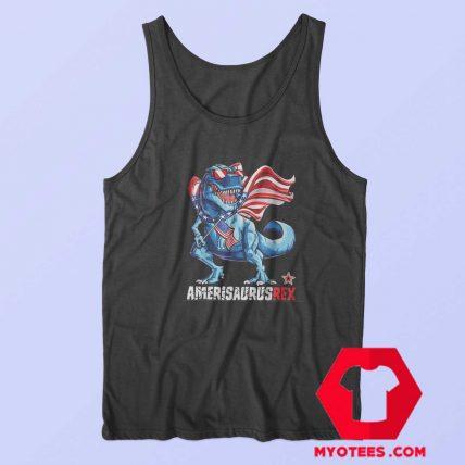 Dinosaur T Rex American Flag Unisex Tank Top