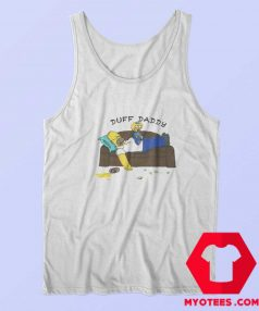 Duff Daddy The Simpsons Fathers Day Tank Top