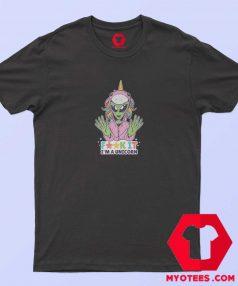 Funny Alien Unicorn Design Unisex T Shirt