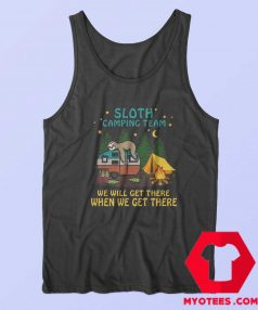 Funny Sloth Camping Team Unisex Tank Top