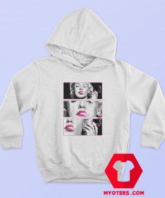 Marilyn Monroe Pink Lips Smoking Marijuana Unisex Hoodie