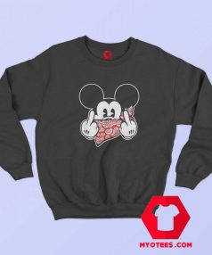 Mickey Mouse Thug Life Middle Finger Sweatshirt