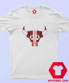 Nike Air Jordan Chicago Bulls Sneaker Horns T shirt