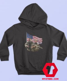 Ronald Reagan Donald Trump USA Flag Hoodie