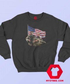 Ronald Reagan Donald Trump USA Flag Sweatshirt