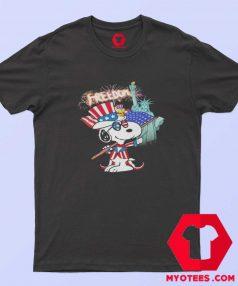 Snoopy Flag Day freedom Unisex T shirt