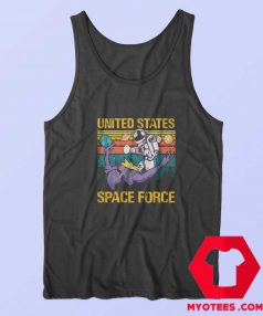 Space Force Astronaut Fighting Alien Vintage Tank Top