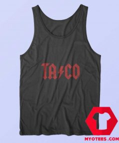 Taco Parody ACDC Style Mens Tank Top Cheap