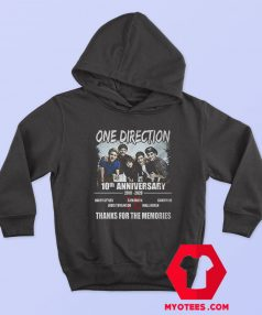 10 Years Of One Direction Thanks For the Memories Hoodie