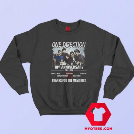10 Years One Direction Thanks For the Memories Sweatshirt