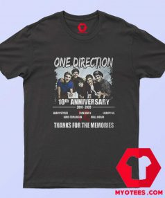 10 Years One Direction Thanks For the Memories T Shirt