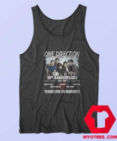 10 Years One Direction Thanks For the Memories Tank Top