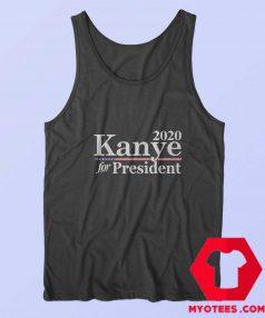 2020 Kanye For President American Flag Tank Top