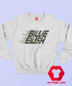 Billie Eilish X Uniqlo Green Flames Sweatshirt