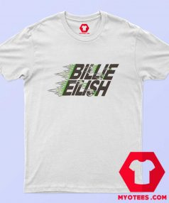 Billie Eilish X Uniqlo Green Flames T Shirt