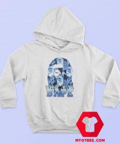 Cool A Bathing Ape Blue Flame Unisex Hoodie