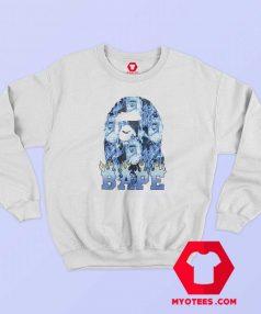 Cool A Bathing Ape Blue Flame Unisex Sweatshirt