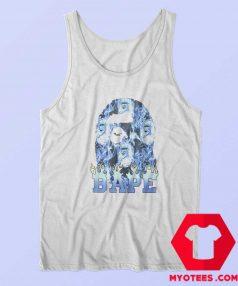 Cool A Bathing Ape Blue Flame Unisex Tank Top