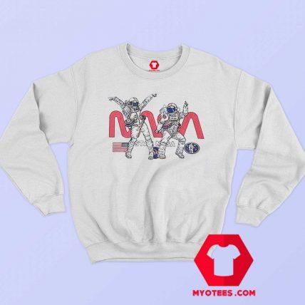 Funny Dancing Nasa Astronaut Unisex Sweatshirt