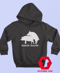 Funny Makin Bacon Draw Unisex Adult Hoodie