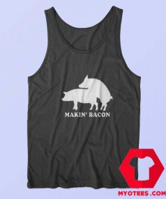 Funny Makin Bacon Draw Unisex Adult Tank Top