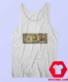 Homer Simpsons Duff One Dollar Unisex Tank Top