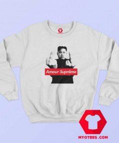 Kim Jong Un middle finger Amour Supreme Sweatshirt