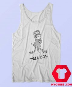 Lil Peep White Hell Boy Bart Simpson Unisex Tank Top