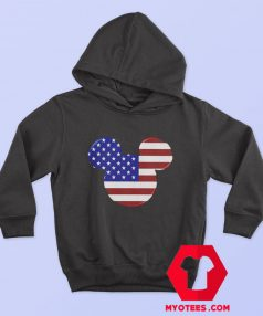 Mickey Mouse American Flag Unisex Hoodie
