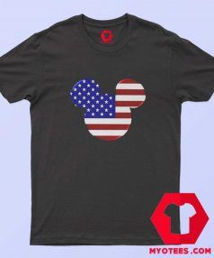 Mickey Mouse American Flag Unisex T Shirt