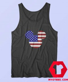 Mickey Mouse American Flag Unisex Tank Top