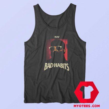 Nav Black Bad Habits Album Unisex Tank Top